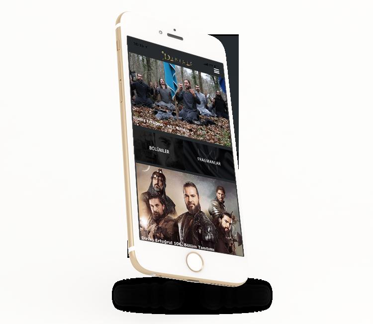 Tekden Film yapımı olan Diriliş Ertuğrul dizisi için hazırladığımız IOS ve Android mobil uygulamalar