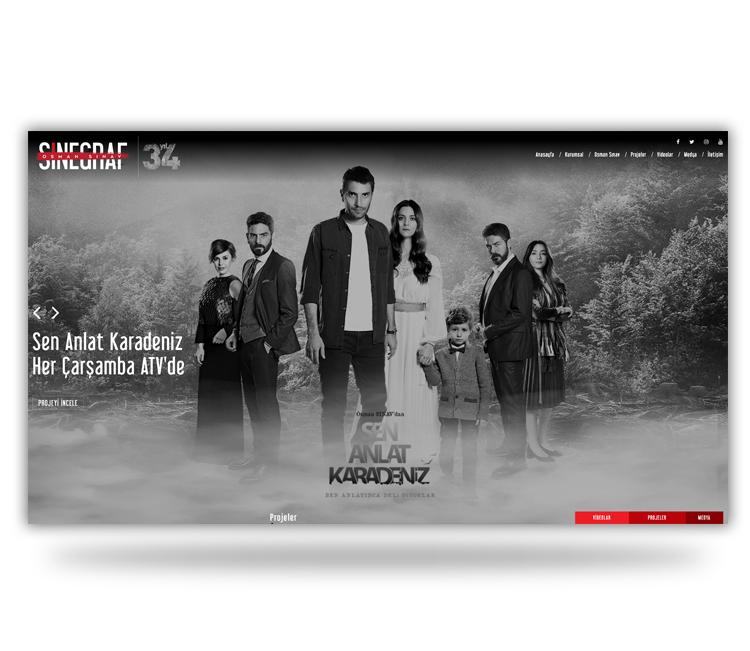 Sinegraf Film'in kurumsal web sitesini dinamik bir yapıda yeniledik!