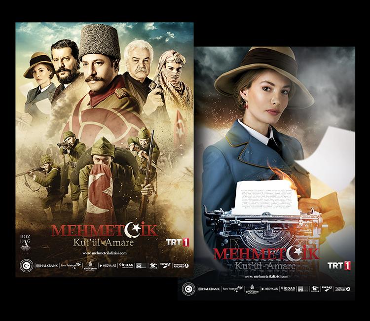 Bozdağ Film'in TRT1 için hazırladığı yeni projesi için hazırladığımız afiş tasarımları